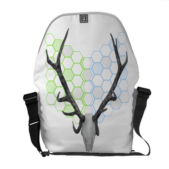 Trophy Deer antlers geometric pattern Messenger Bag
