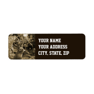 Trophy Deer Return Address Label