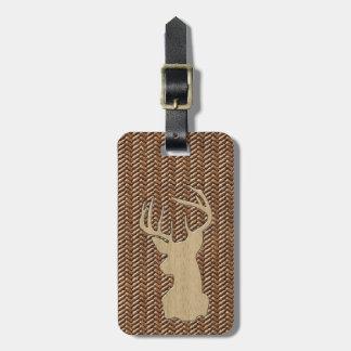Trophy Deer with Antlers Luggage Tag