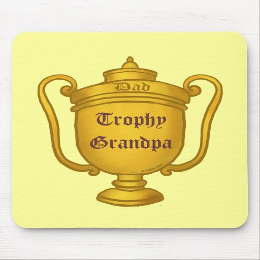 Trophy Grandpa Mouse Pads