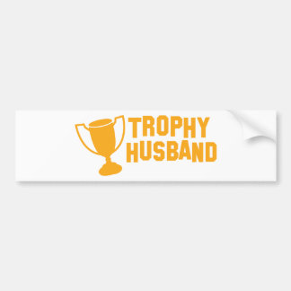 trophy husband bumper sticker