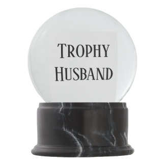 Trophy Husband Christmas Holiday Gift Snowglobe