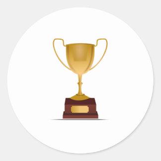 Trophy Round Sticker