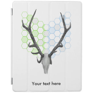 Trophy stag antlers geometric pattern iPad cover