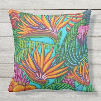 Tropic Gems Outdoor Throw Pillow, Outdoor Pillow