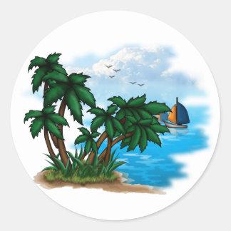 Tropic Paradise Classic Round Sticker