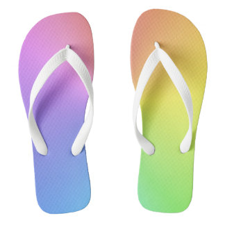 Tropic Rainbow Colors Flip Flops