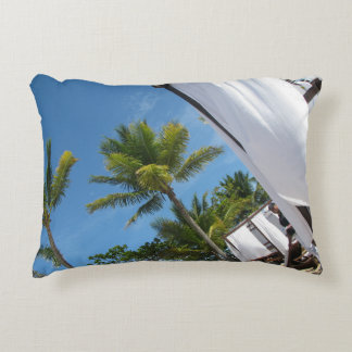 tropical accent pillow