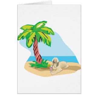 Tropical Afghan Hound Card