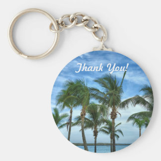 Tropical Afternoon Thank You Gift Keychain