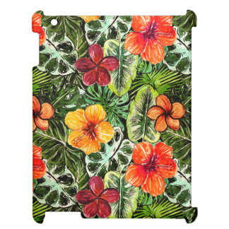 Tropical Aloha  Exotic Jungle Flowers Cover For The iPad
