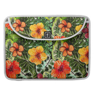 Tropical Aloha  Exotic Jungle Flowers Sleeve For MacBook Pro