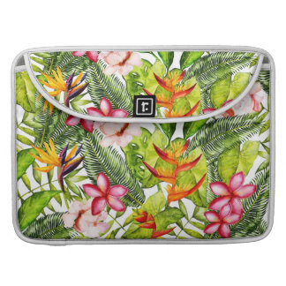 Tropical Aloha  Exotic & Tropical Jungle Flowers Sleeve For MacBooks