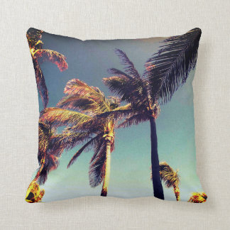 Tropical And Palm Trees Throw Pillow