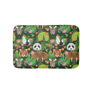 Tropical Animal Mix Bath Mat