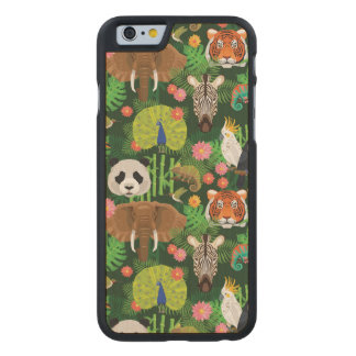 Tropical Animal Mix Carved® Maple iPhone 6 Case