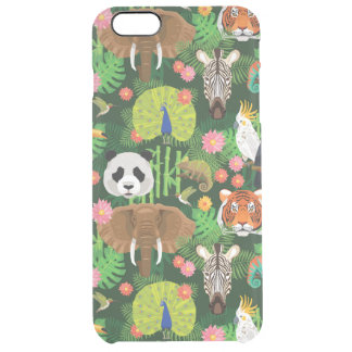 Tropical Animal Mix Clear iPhone 6 Plus Case
