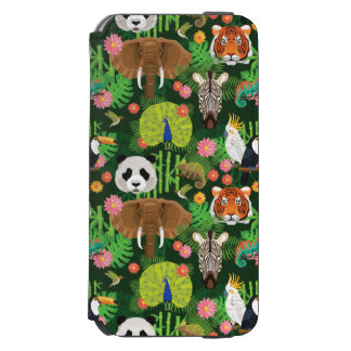 Tropical Animal Mix Incipio Watson™ iPhone 6 Wallet Case