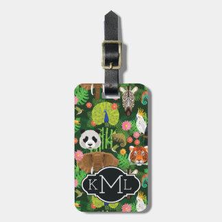 Tropical Animal Mix | Monogram Bag Tag
