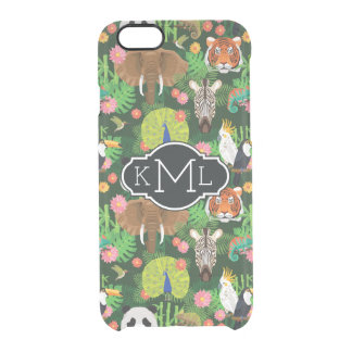 Tropical Animal Mix | Monogram Clear iPhone 6/6S Case