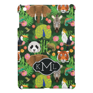 Tropical Animal Mix | Monogram Cover For The iPad Mini