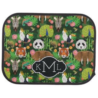 Tropical Animal Mix | Monogram Floor Mat