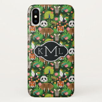Tropical Animal Mix | Monogram iPhone X Case