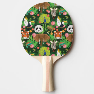 Tropical Animal Mix Ping Pong Paddle
