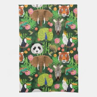 Tropical Animal Mix Towels