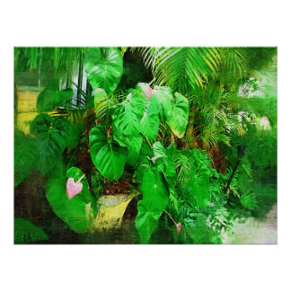 Tropical Anthurium - Afternoon in the Garden Poster