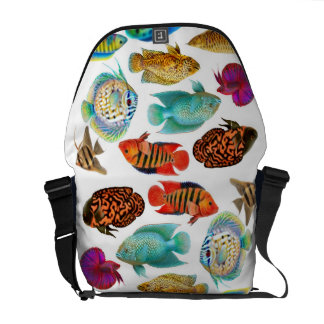 Tropical Aquarium Fish Rickshaw Messenger Bag