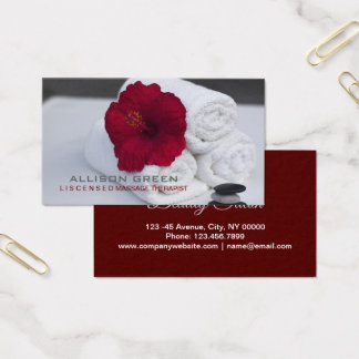 Tropical Aromatherapy SPA Salon Massage therapist Business Card