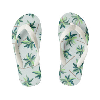 Tropical Australian foxtail palm Kid's Flip Flops
