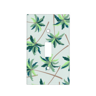 Tropical Australian foxtail palm Light Switch Cover