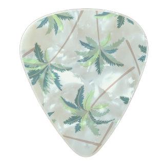 Tropical Australian foxtail palm Pearl Celluloid Guitar Pick