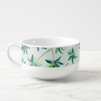 Tropical Australian foxtail palm Soup Mug
