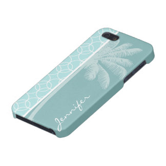 Tropical Baby Blue Circles Cases For iPhone 5