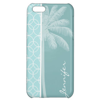 Tropical Baby Blue Circles Cover For iPhone 5C
