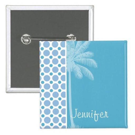 Tropical Baby Blue Polka Dots Pins