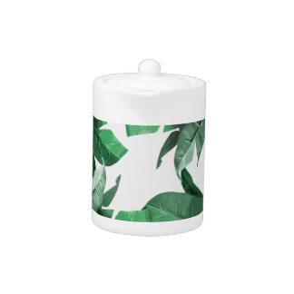 Tropical Banana Leaf Teapot