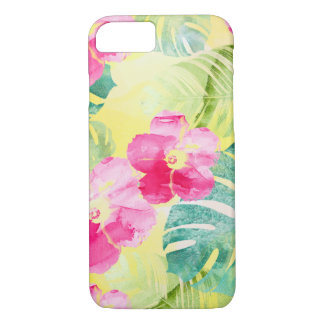 Tropical Banana Leaves and Hibiscus Flowers Case-Mate iPhone Case