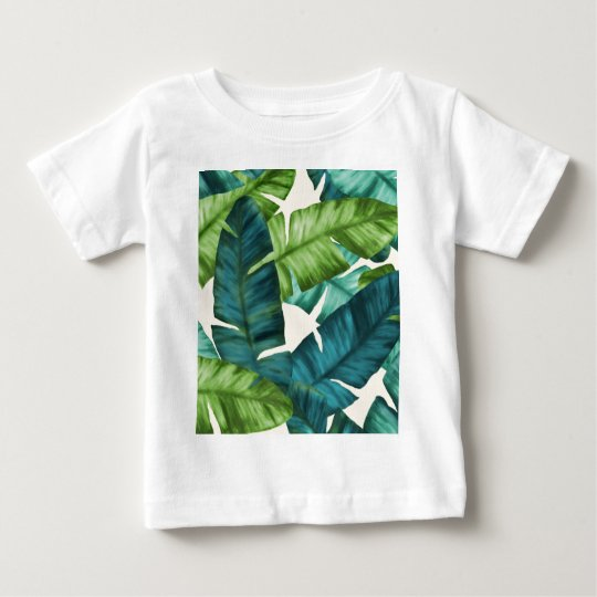 Tropical Banana Leaves Original Pattern Baby T-Shirt