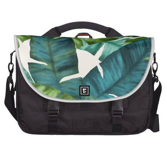 Tropical Banana Leaves Original Pattern Bag For Laptop