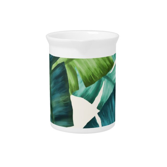 Tropical Banana Leaves Original Pattern Beverage Pitchers