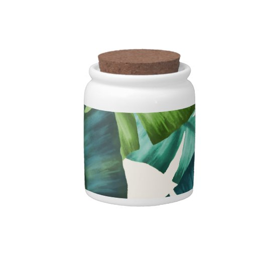 Tropical Banana Leaves Original Pattern Candy Dishes