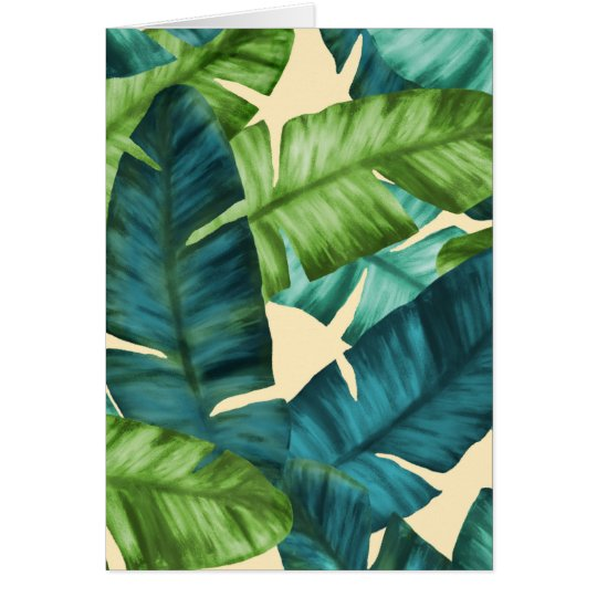 Tropical Banana Leaves Original Pattern Card