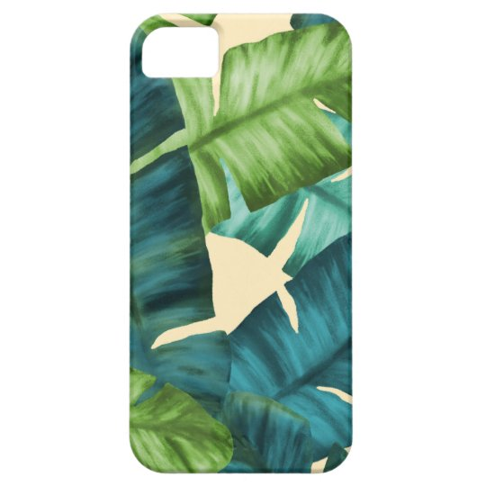 Tropical Banana Leaves Original Pattern Case For The iPhone 5
