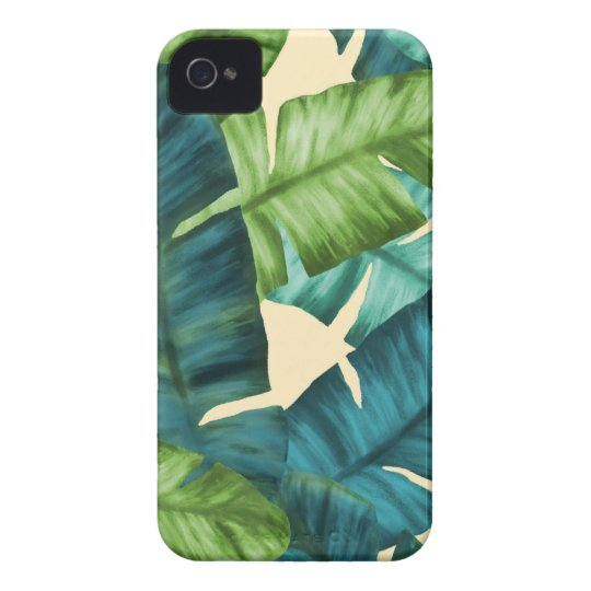 Tropical Banana Leaves Original Pattern Case-Mate iPhone 4 Cases