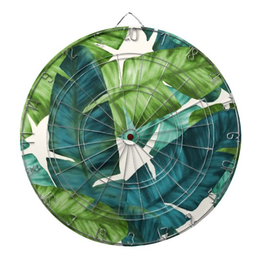 Tropical Banana Leaves Original Pattern Dartboard