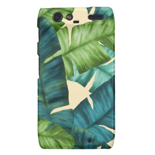 Tropical Banana Leaves Original Pattern Droid RAZR Cases